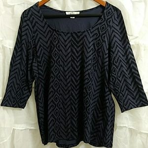 SUSAN BRISTOL 3/4 Sleeve Cotton Top T45
